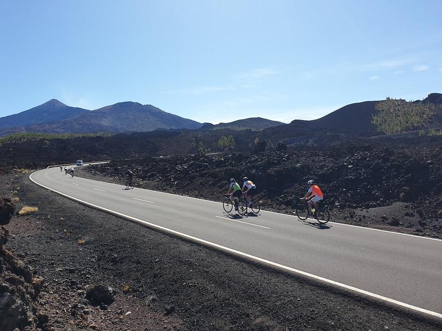 vulkaan Teide fietsen
