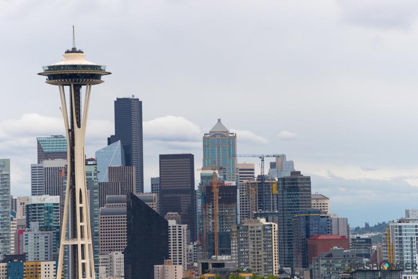 Skyline Seattle met Space Needle