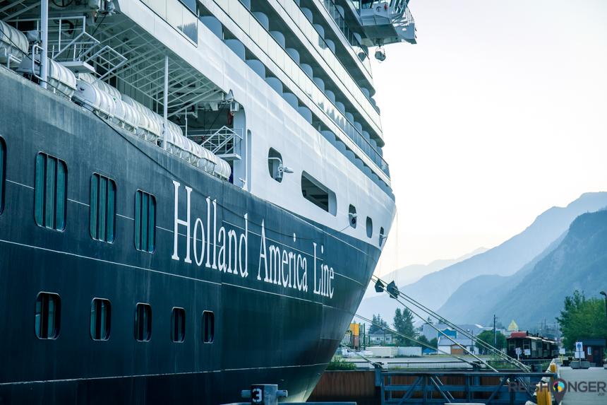 Cruiseschip de Nieuw Amsterdam van Holland America Line
