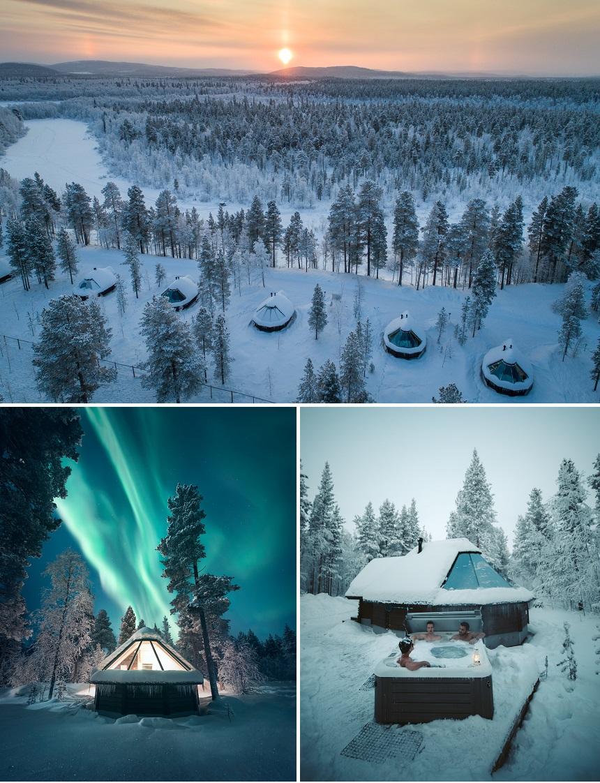 Finland Aurora Village overnachten