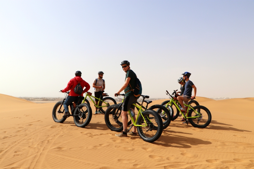 Met een fat bike fietsen door de duinen van Swakopmund