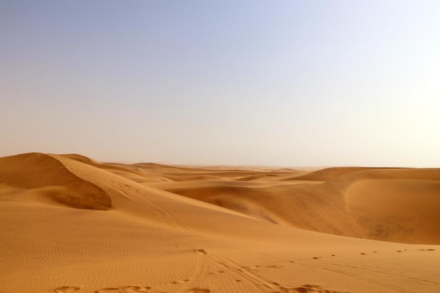 Namib betekent 'plaats waar niets is', een treffende naam voor deze woestijn in Namibie