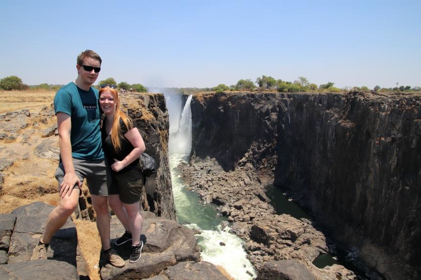 Als de watervallen op hun volst zijn, is de hele rotswand bedekt met water