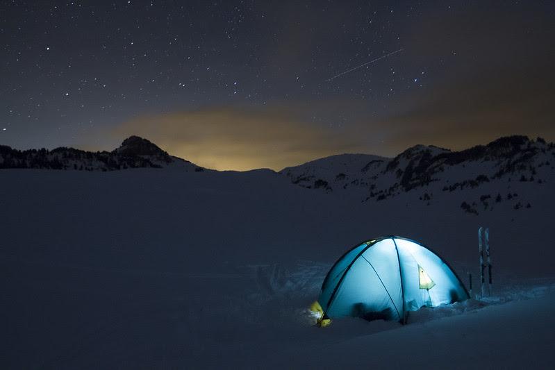 overnachten in een berghut of een bivak in de Vercors