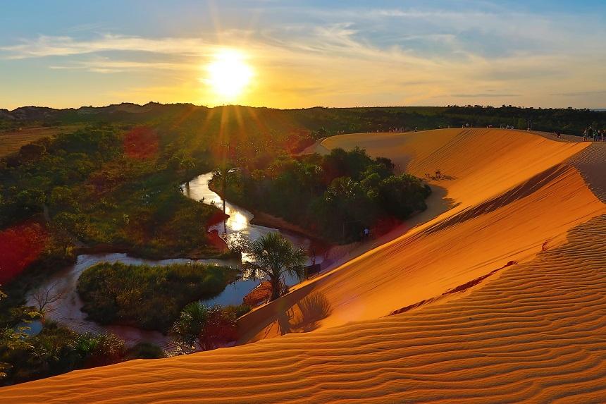 De zandduinen van Jalapão, Tocantins, een van de vier verbazingwekkende ecobestemmingen in Brazilië