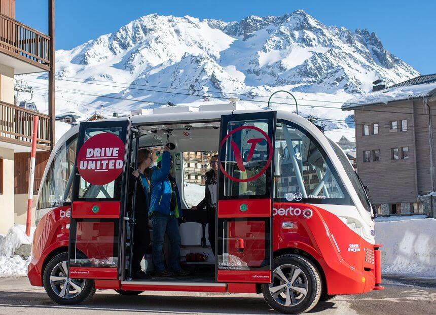 De eerste zelfrijdende elektrische shuttle 'Berto'
