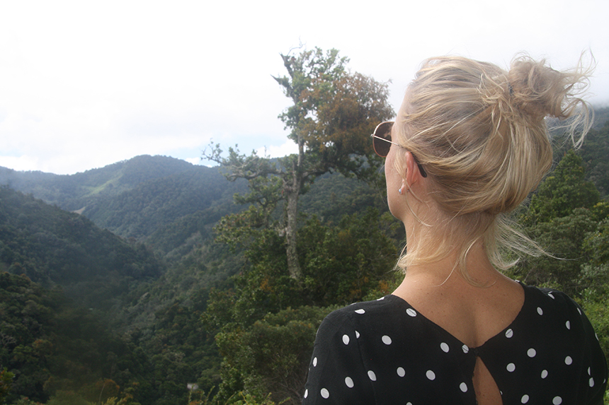Uitzicht Dantica Cloud Forest Lodge