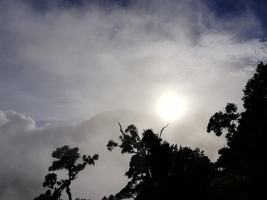 Sunrise, Dantica Cloud Forest Lodge, Talamanca gebergte