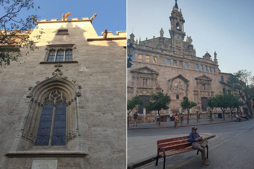 La Lonja de la Seda en de Iglesia de los Santos Juanes op de Plaza del Mercado