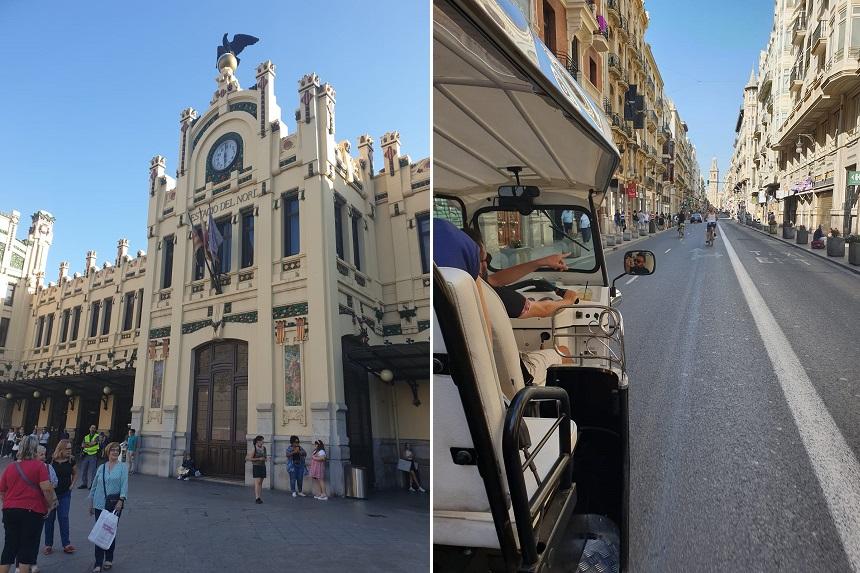 Tuk tuk toer Valencia vanaf station València-Nord
