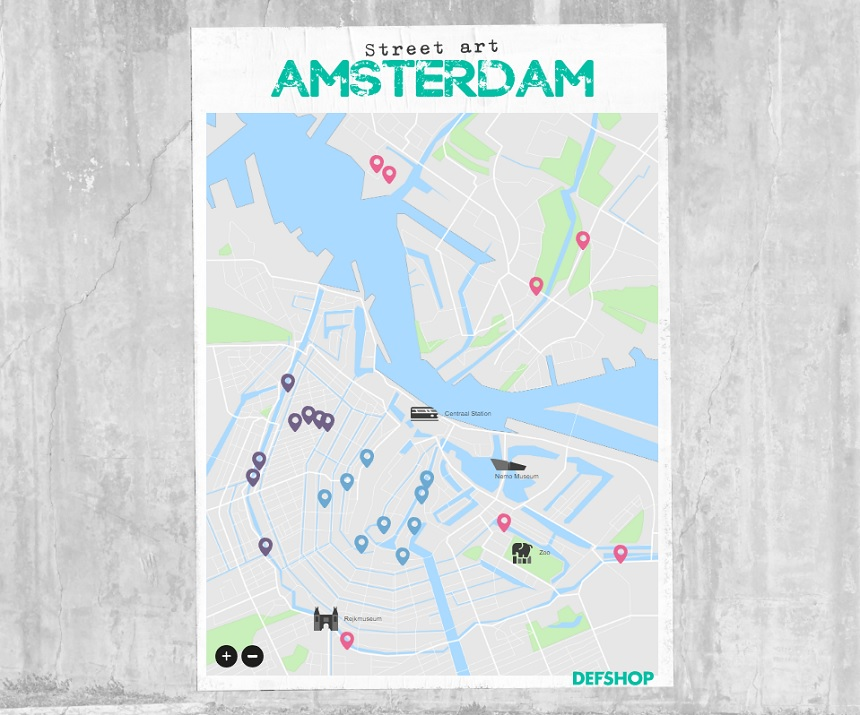 Street Art Map Amsterdam