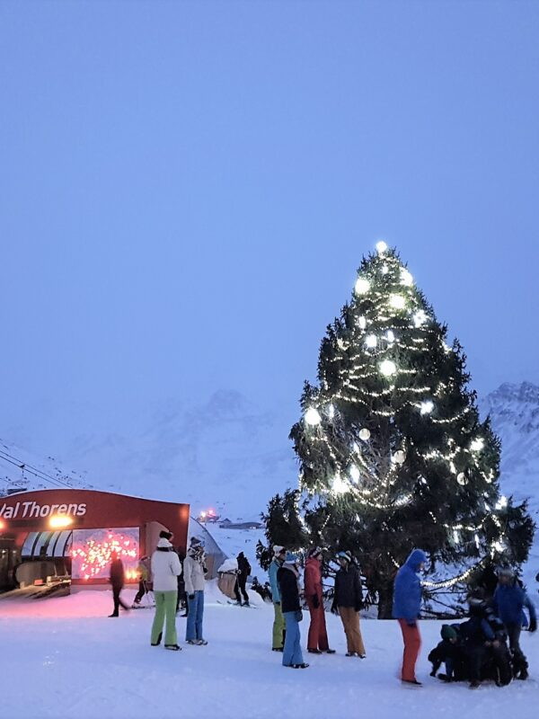 Val Thorens in kerstsferen