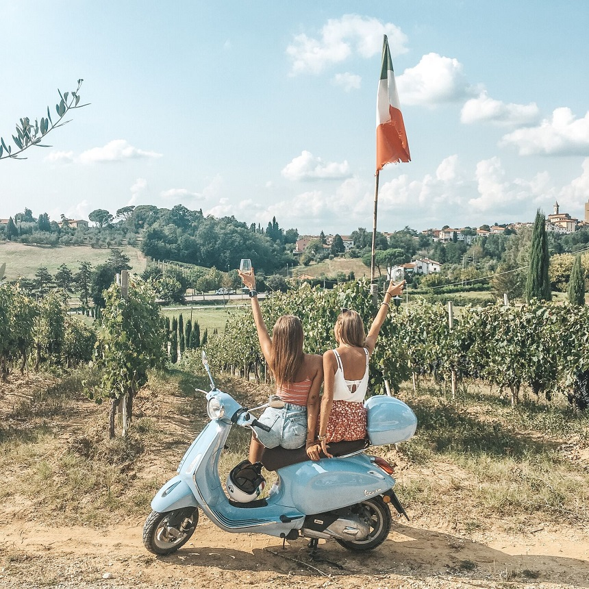 Vespa Trip Italië