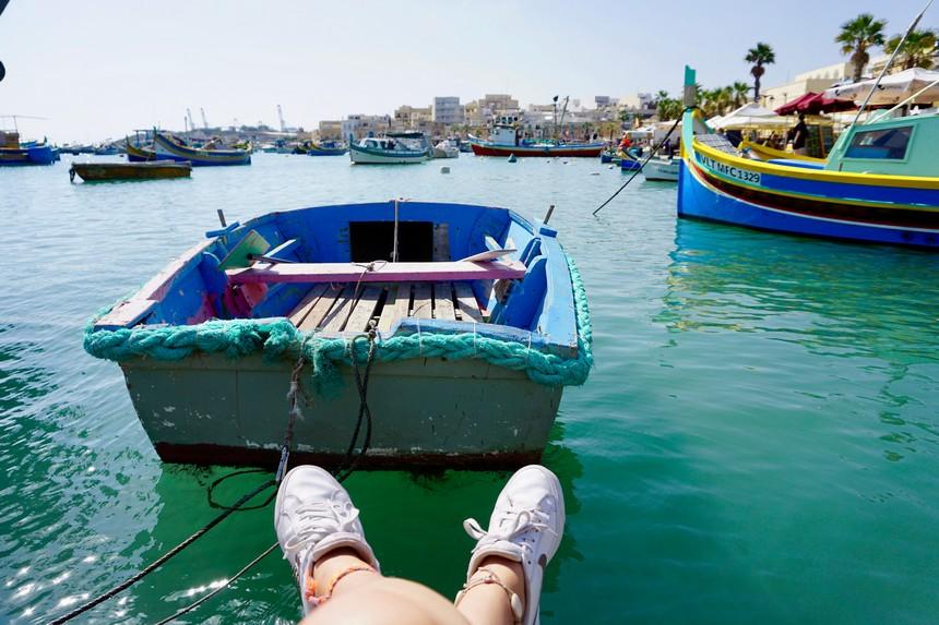 het kleurrijke vissersdorpje Marsaxlokk