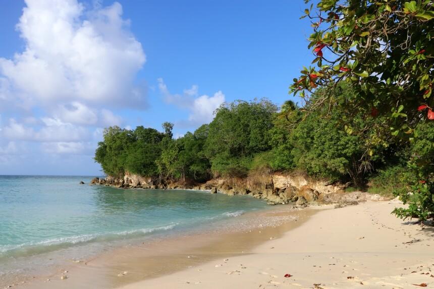 Op Guadeloupe is het niet moeilijk om een strandje voor jezelf te vinden