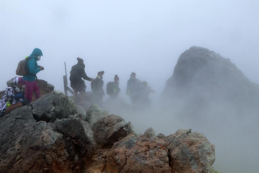 Beklim de vulkaan La Souffriere