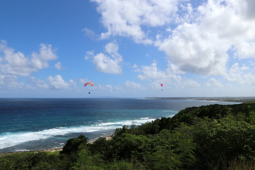 Paragliden op Guadeloupe