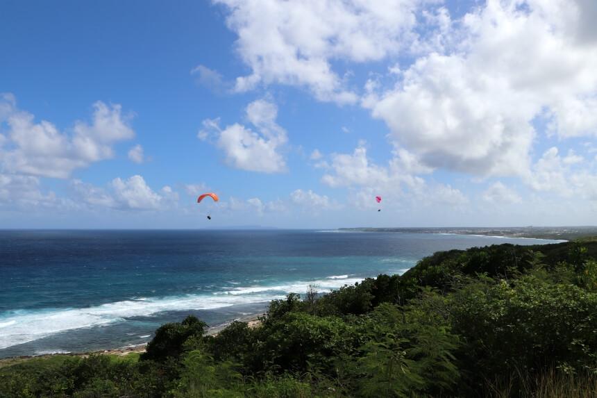 Paragliden op Guadeloupe