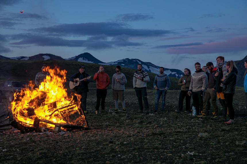 Kampvuur IJsland