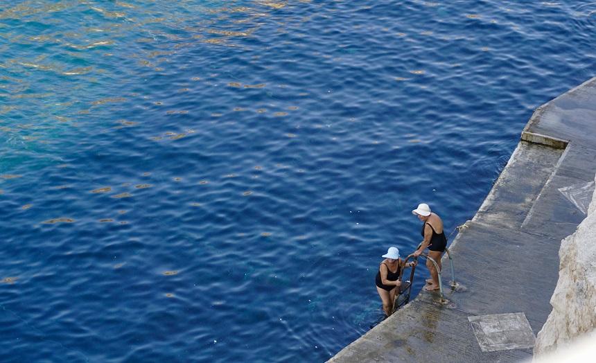 Een ochtendduik in de Middellandse zee
