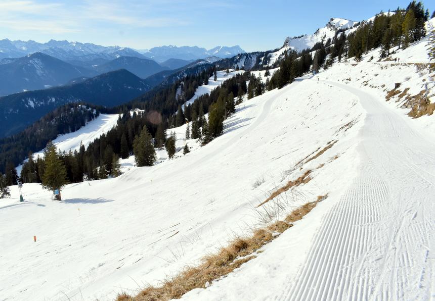 De berg Brauneck, in het skigebied Brauneck – Lenggries/Wegscheid