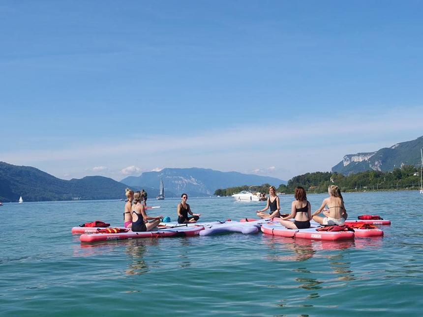 Yogasuppen, Lac du Bourget, Aix les Bains, Soren, Auvergne-Rhône-Alpes