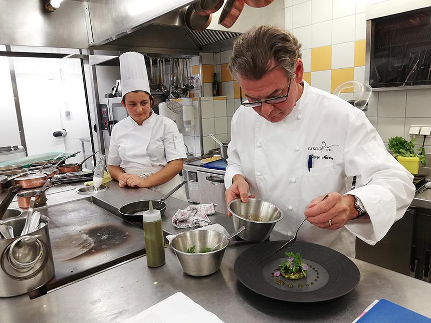 restaurant La Martine, Pierre Marin, Michelinster