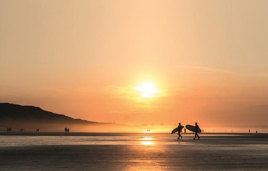 saltburn surfers zonsondergang