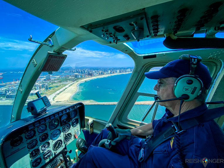 Helicopterview piloot Phil Durban