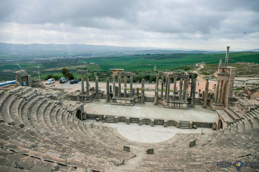 het Romeinse amfitheater van Dougga