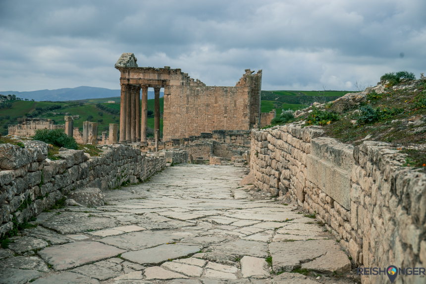 Dougga, belangrijke handelsstad van Carthago