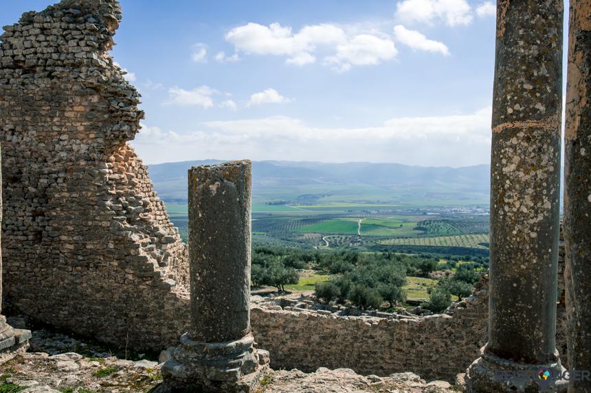 Dougga of Thugga - historische Berberse stad in Tunesië
