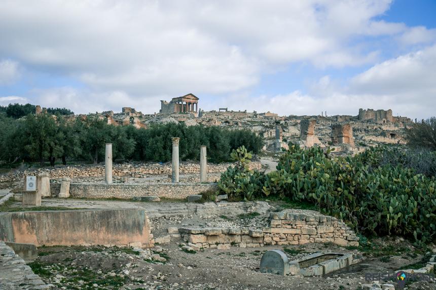 De ruïnes van Dougga