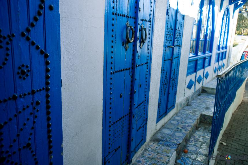 het super fotogenieke, geheel in blauw met witte tinten geschilderde Sidi Bou Said