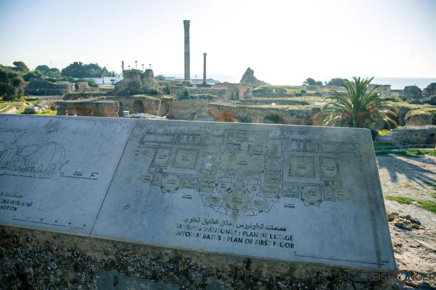Het oude Carthago in Tunesië