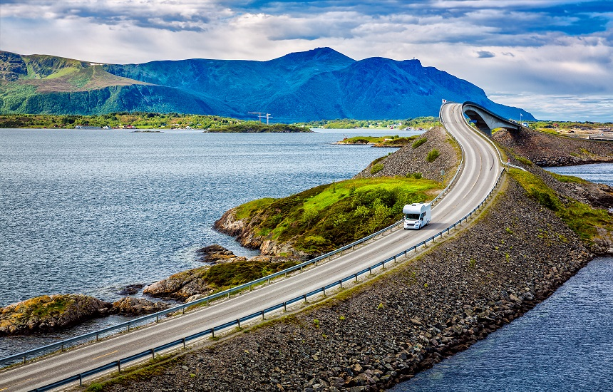 The Atlantic Road camper