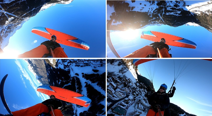 extreme paragliding la plagne