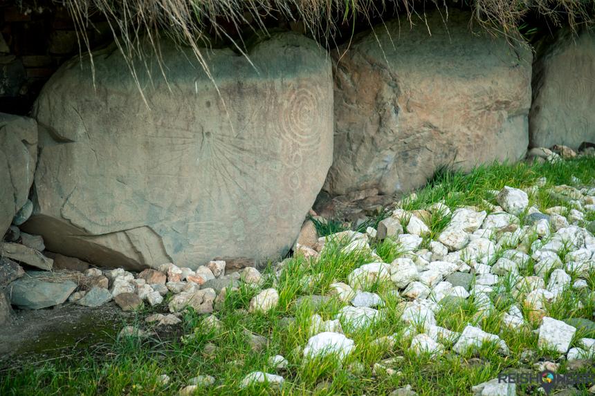 duizenden jaren oude graffiti Knowth