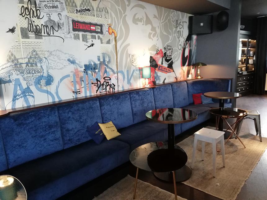 Hotel Ruby Marie, Wenen, Vienna, hip, stoer interieur