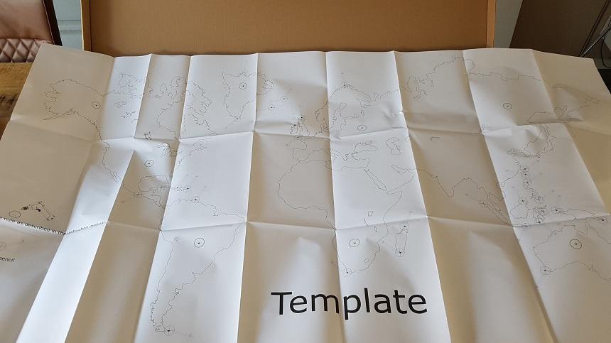 Papieren sjabloon voor het ophangen