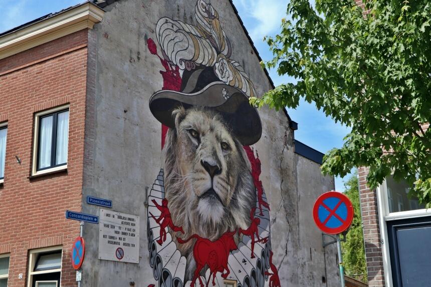 Een van de mooiste muurschilderingen van Breda