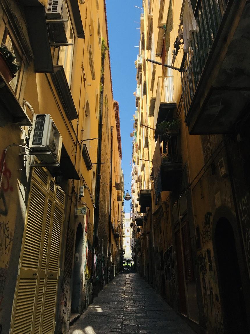Lockdown corona Napels Italië