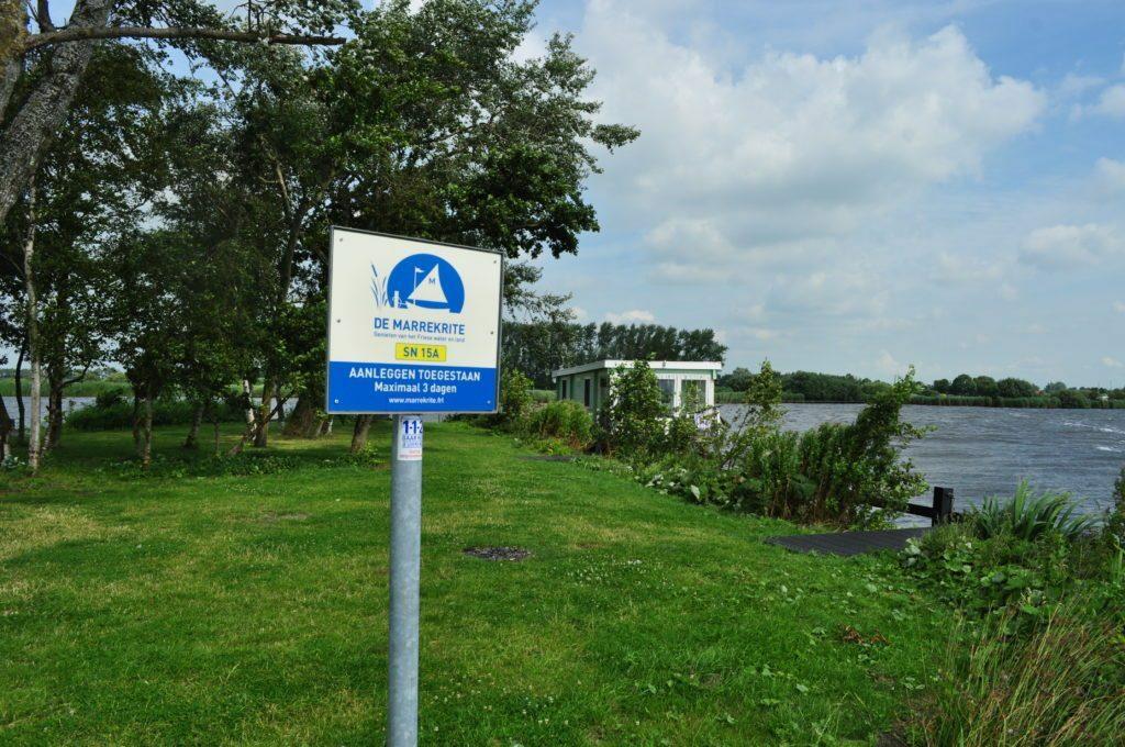 Marrekrite ligplaatsen - wildkamperen in Friesland