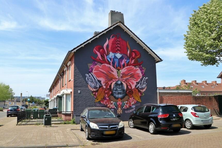 De muurschilderingen in Breda vertellen over de geschiedenis van de stad