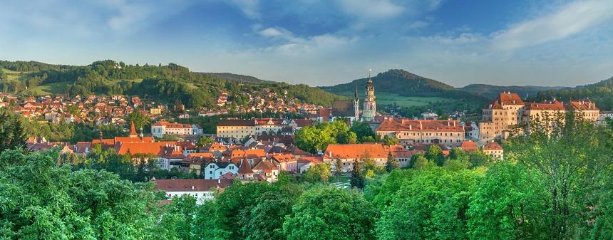 Český Krumlov in de Tsjechische regio Zuid-Bohemen