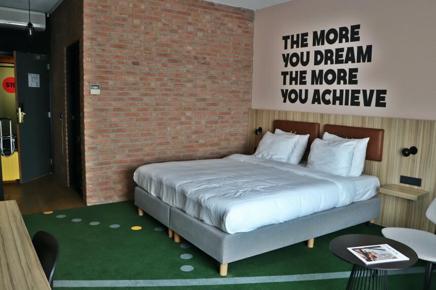 Het HUP hotel in Mierlo is het sportiefste hotel van Nederland