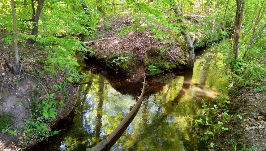 Het water van de Rode Beek en de Nieuwe Beek wordt gescheiden.