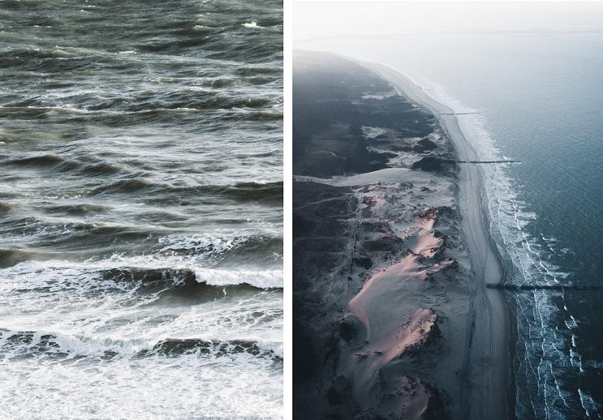 Golfbrekers beschermen delen van de kustlijn tegen golven (Foto rechts: Dylan Shu Photography)