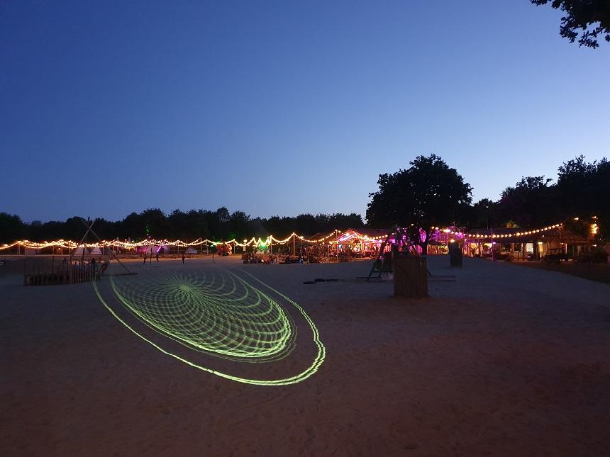 Family Beach at night