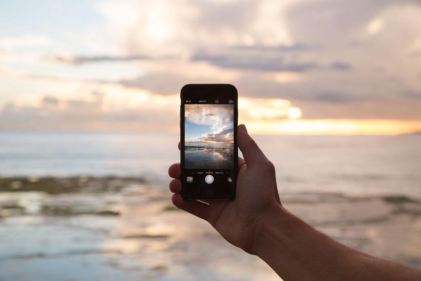reisfoto's met een smartphone
